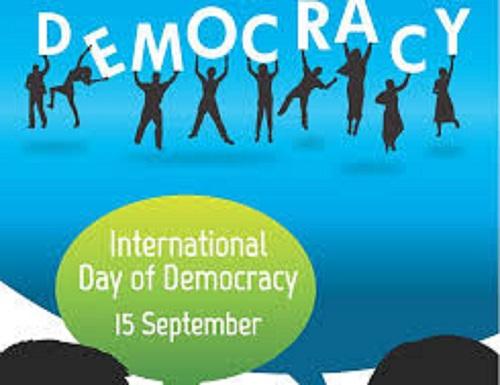 International Day Of Democracy, September 15