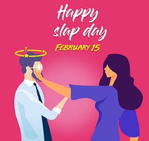 Happy Slap Day Sms