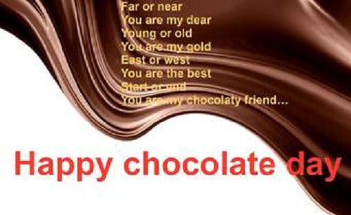 Chocolate Day Wishes Sms